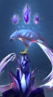 Articuno.painting practice by Meep-and-Mushrat