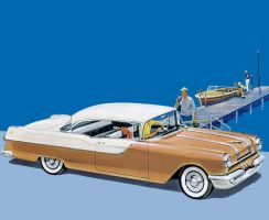 age of chrome and fins : 1955 Pontiac by Peterhoff3
