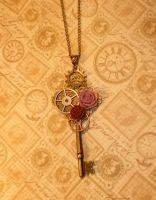Steampunk Clockwork Key by Valethia
