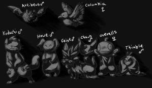 Pokemon Black- Team Players by comixqueen