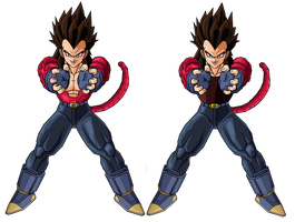 Real Vegeta SSJ4 by RobertoVile