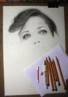 Marion Cotillard (WIP) by LazzzyV