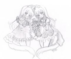 Two Elins are cuter xD by Kee-ko
