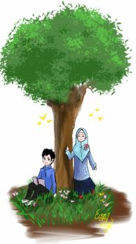 Kid Muslim girl and boy by ScarletteRoseDEzZean