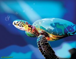 Sea Turtle by nenglehardt