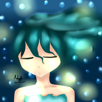 A girl in sea (?) :'3 by NinditaSiAger2