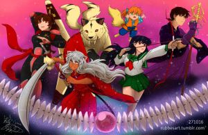 InuYasha 20th Anniversary by LittleIzzy44