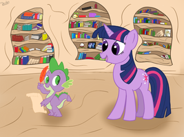 Twilight sends letters -finished- by Dragonfoorm