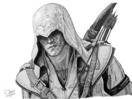 Assassin's Creed 3 Connor - Fan Art Drawing by LethalChris