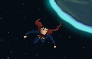 SUPERMAN IN SPACE by DaJam22