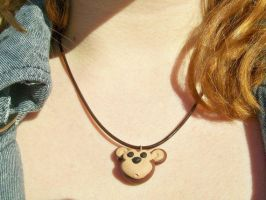 Cute Monkey Necklace by squeesqueak