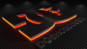 C4D DC shoes logo wallpaper by xCustomGraphix