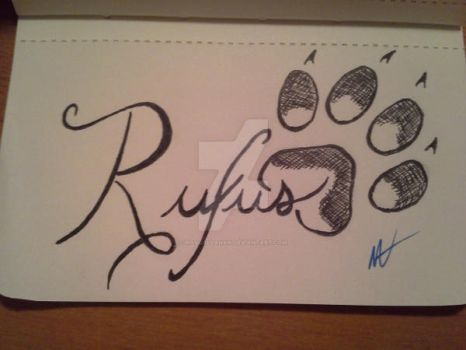 Rufus Dog Print Tattoo by navcallahan