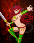 Demon-Girls: Erza by X-Ray99