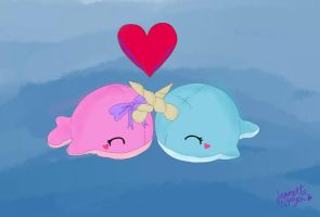 WOOT NARWHAL PLUSHIES :D by otakujeanette