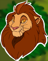 Kion's Grandfather, Nala's Father by Draco-Digi