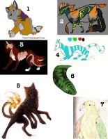 Adoptables Batch 3 by LeaveItToVi