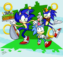 Sonic's 25th Anniversary by Miledblur