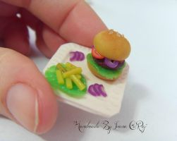 Polymer clay Hamburger by SweetIva
