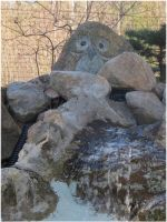 The Waterfall Owl by Kattvinge