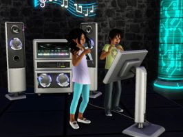 Sims 3: Kid's Karaoke Night by ayea28