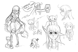 Mini sketch dump ? by YukiiiChan