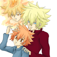 Giotto and Tsunacest from KHR by Aresky