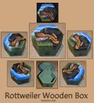 Rottweiler Wooden Box by wolfysilver