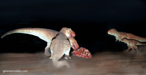 T rex 1:72 scale feeding . by GalileoN