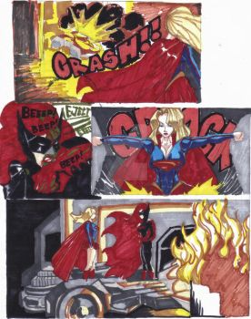 BATWOMAN VS SUPERGIRL Page 2 by ScketchtopiA