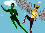 Hawkgirl and the Green Lantern by Kitti47