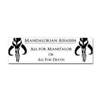 Mandalorian Bumper Sticker by xTeknoWolfx