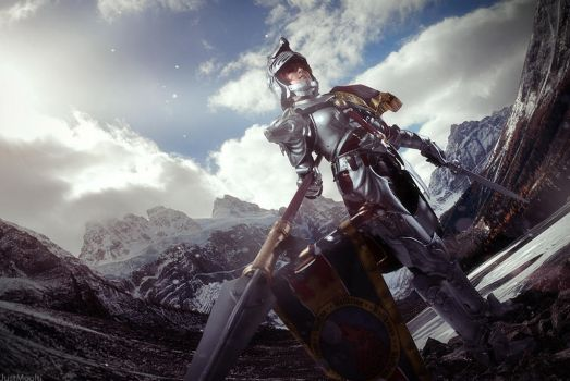Soul Calibur IV: Hilde. Mountains by ElenaLeetah