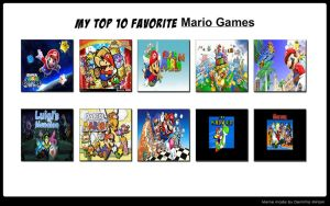My Top 10 Favorite Mario Games by FireMaster92