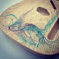 Custom Telecaster Artwork by Carnegriff