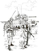 American soldiers Gulf War 1991 by Stcyr74