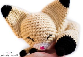 sleepy fennec fox amigurumi 3 by adorablykawaii
