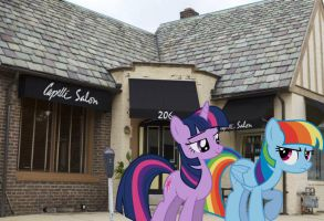 Twilight and Rainbow: Leaving the Hair Salon by Paris7500