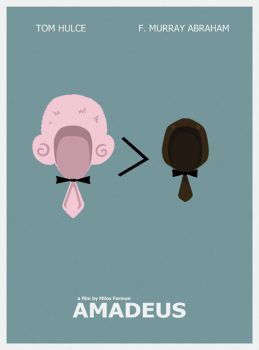 Amadeus Minimal Movie Poster by LamechO
