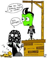 Lenore and Zim have fun by cgaussie