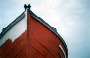 Half painted boat by Wam