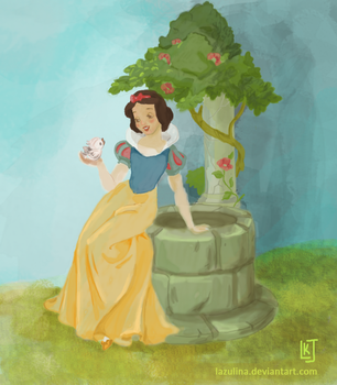Snow White by the Well by Lazulina