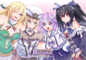 Hyperdimension Neptunia by enjelia