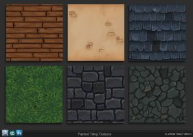 Painted Tiles by 9thKnight