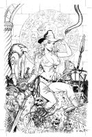 Zenescope Keres cover...Indiana Jones style by MichaelDooney