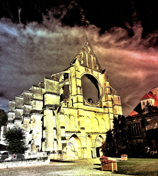 A Horror version of the Abbey de Longpont by Fingal-Grey