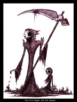 The Grim Reaper and The Damned by hatetobeyou