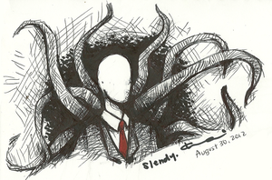 Slenderman Sketch by Yozora101
