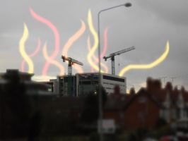 Cityy in Flames by rebel28