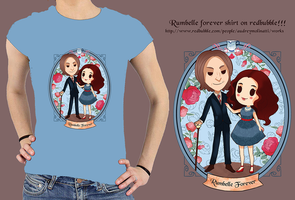 Rumbelle forever shirt on redbubble by audreymolinatti